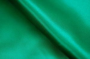ポリエステル・サテン生地 緑色・グリーン(6603-03) メーカー生産終了のため現物のみとなります