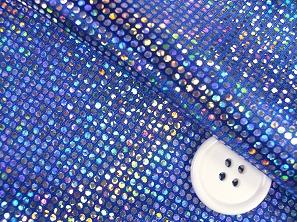 ロイヤルスムース 衣装生地 ダンス衣装生地 青色(6635-05)