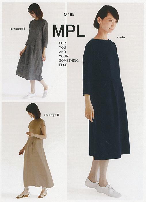 ラグランウエスト切り替えドレス(M165)