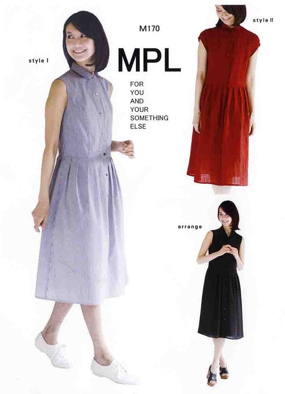 タック2スリーブシャツドレス(M170)