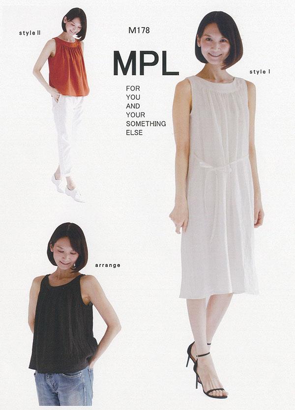 カーブ衿ノースリーブドレス(M178)