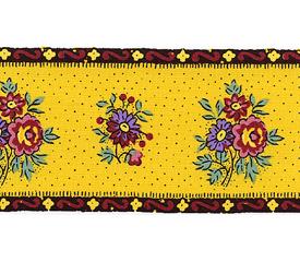 SOULEIADO ソレイアード かわいいローズ柄の ギャロンテープ レ・プティ・マシフ(黄色)(SLF20-C)