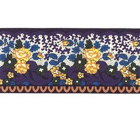 SOULEIADO ソレイアード かわいい小花柄の ギャロンテープ ラ・ピチューヌ(紺色)(SLF21-A)