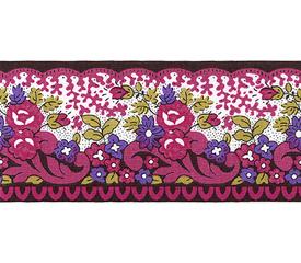 SOULEIADO ソレイアード かわいい小花柄の ギャロンテープ ラ・ピチューヌ(ピンク色)(SLF21-B)