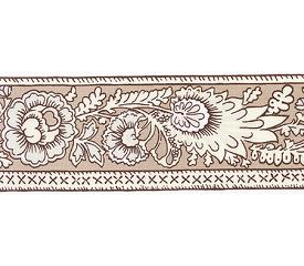 SOULEIADO ソレイアード ナチュラル系 花柄の ギャロンテープ レ・プティ・アルティショー(クリーム色)(SLF22-A)