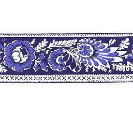 SOULEIADO ソレイアード ナチュラル系 花柄の ギャロンテープ レ・プティ・アルティショー(青色)(SLF22-B)