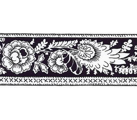 SOULEIADO ソレイアード ナチュラルな花柄の ギャロンテープ レ・プティ・アルティショー(白黒)(SLF22-C)