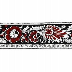 SOULEIADO ソレイアード かわいい花柄の ギャロンテープ レ・プティ・アルティショー(赤色系)(SLF22-D)