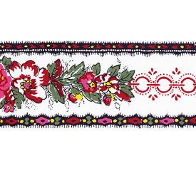 SOULEIADO ソレイアード かわいいローズ柄の ギャロンテープ ラ・グロス・ローズ(赤色系)(SLF23-A)