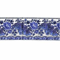 SOULEIADO ソレイアード かわいいローズ柄の ギャロンテープ ラ・グロス・ローズ(青色)(SLF28-B)
