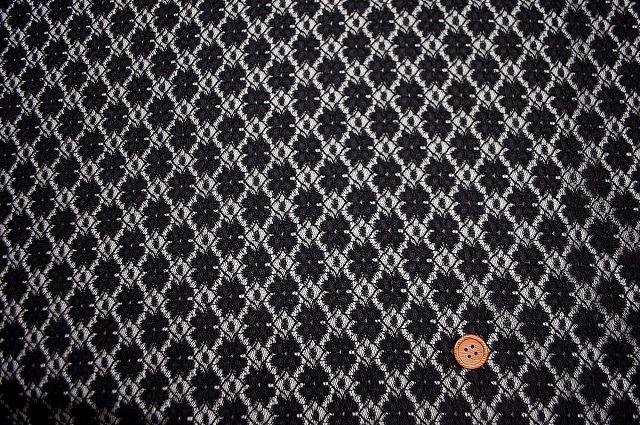 ラッセルレース生地 黒 【50cm単位】 《値下げ》 (la446)