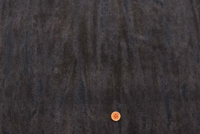 フロッキープリントパワーネット生地 こげ茶 【50cm単位】《値下げ》 (la619)