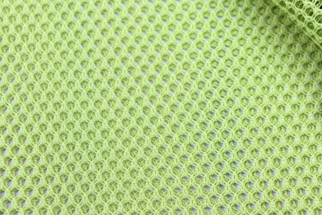 ファビーニット生地(ダブルハニカム) 黄緑 【50cm販売】(全12色) (la681)