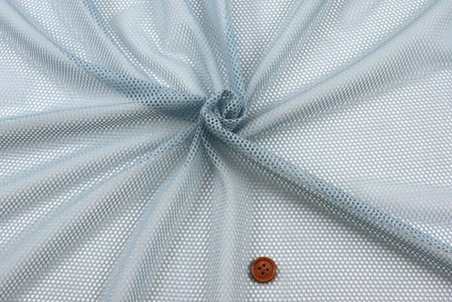ファビーニット生地(ダブルハニカム) ブルーグレイ 【50cm販売】(全12色) (la685)