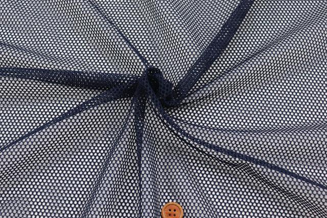 ファビーニット生地(ダブルハニカム) 濃紺 【50cm販売】(全12色) (la688)