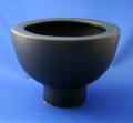 観葉植物鉢カバーマットブラックデープボール