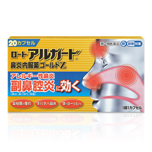 【第(2)類医薬品】ロート製薬 ロートアルガード鼻炎内服薬ゴールドZ 20カプセル(1回1カプセル)
