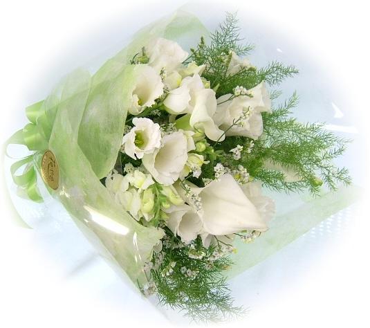 お供え・お悔やみに贈るお花★ホワイト系花束3,000円-ネット特価!