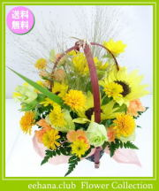 8月の誕生花★ひまわりスマイルアレンジ3,800円【送料無料】花言葉カード付き