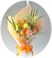 ミニオレンジ2,500円-花束 ネット特価!