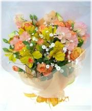オレンジレンジ3,000円-花束 ネット特価!