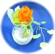 プリザーブドフラワー クリスタルオレンジ1,200円    -ネット特価!