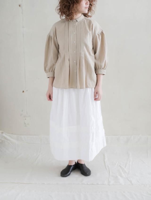 Veritecoeur ヴェリテクール / ポプリンスカート WHITE