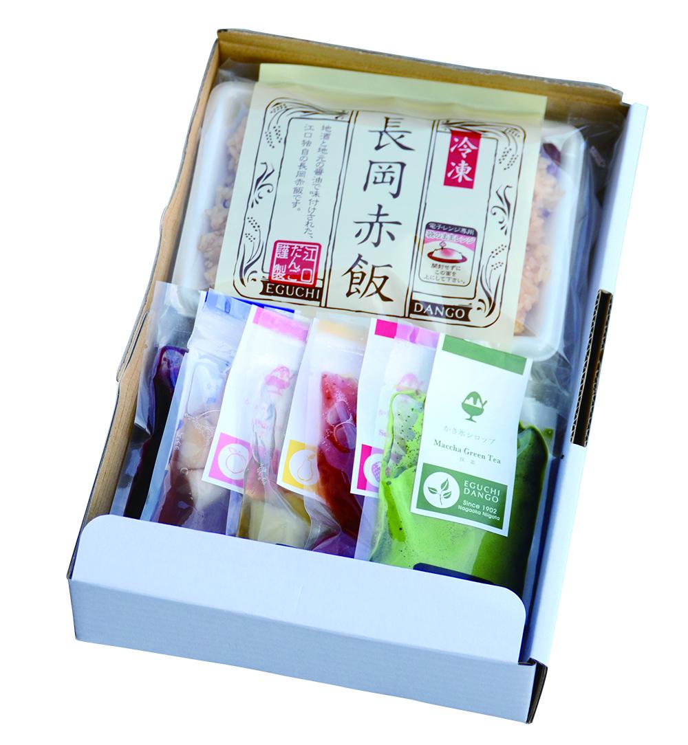 長岡赤飯・かき氷シロップセット
