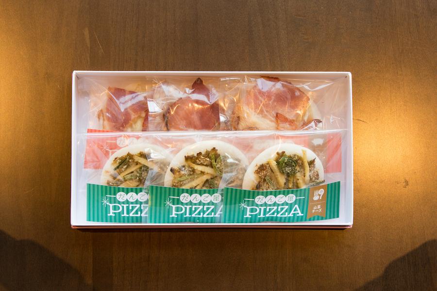 だんご屋PIZZA みたらしベーコンチーズ味3個入 山菜チーズ味3個入