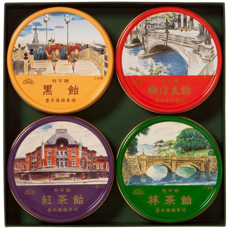 榮太樓 東京名所缶 4缶入