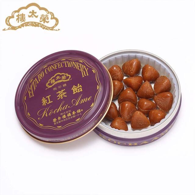 榮太樓 榮太樓飴 缶入 紅茶飴