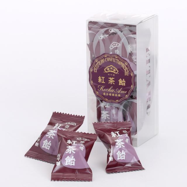榮太樓 榮太樓飴 透かし箱 1本 12粒入 紅茶飴