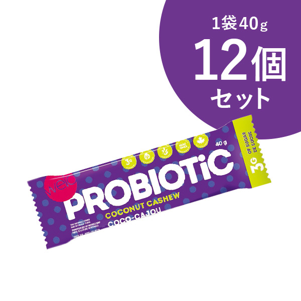 Welo プロバイオティックス・バー ココナッツ&カシュー  40g×12個 菓子