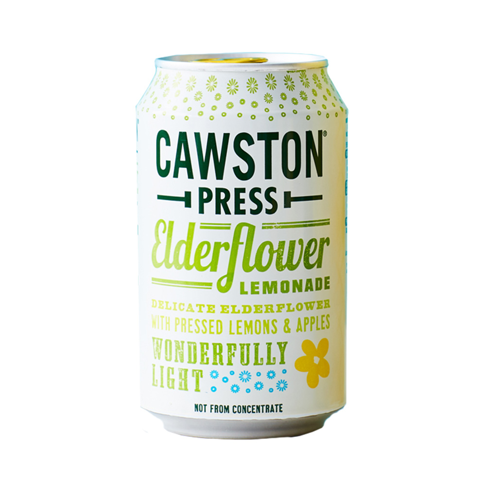 CAWSTON スパークリング アップル&エルダーフラワーレモネード 55%混合果汁入り飲料(炭酸ガス入り)330ml