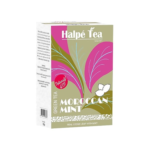 Halpe Tea モロッカンミント・グリーンティー(リーフ) 100g 緑茶(フレーバードティー)