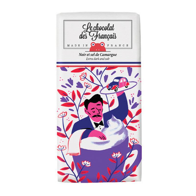 Le chocolat des Francais(ル・ショコラ・デ・フランセ)コーヒーカップ/ダーク・塩(カカオ71%) 80g