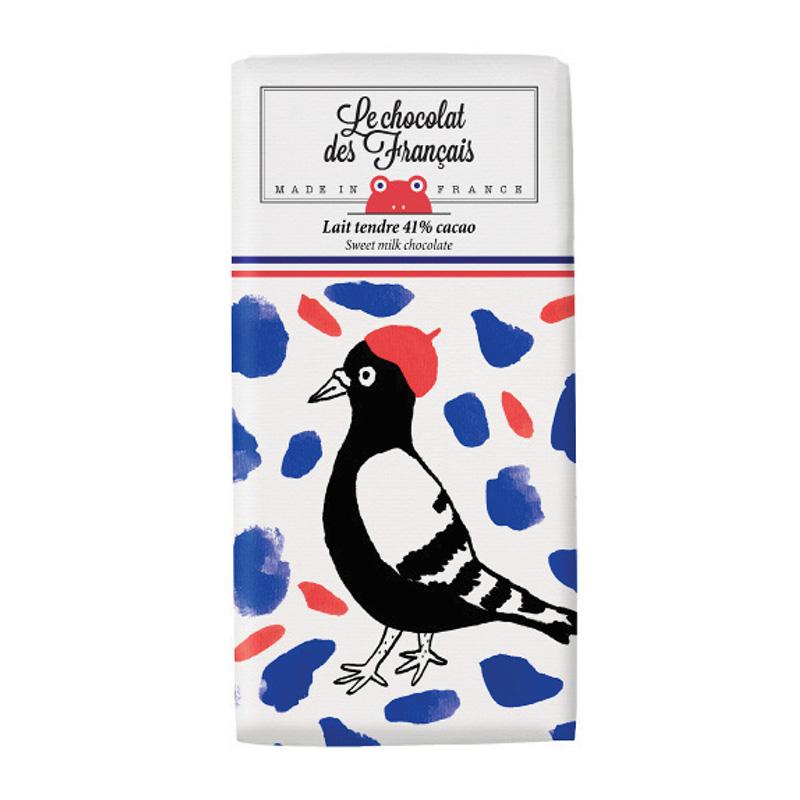 Le chocolat des Francais(ル・ショコラ・デ・フランセ)バード/ミルク(カカオ41%) 80g チョコ チョコレート フランス お菓子