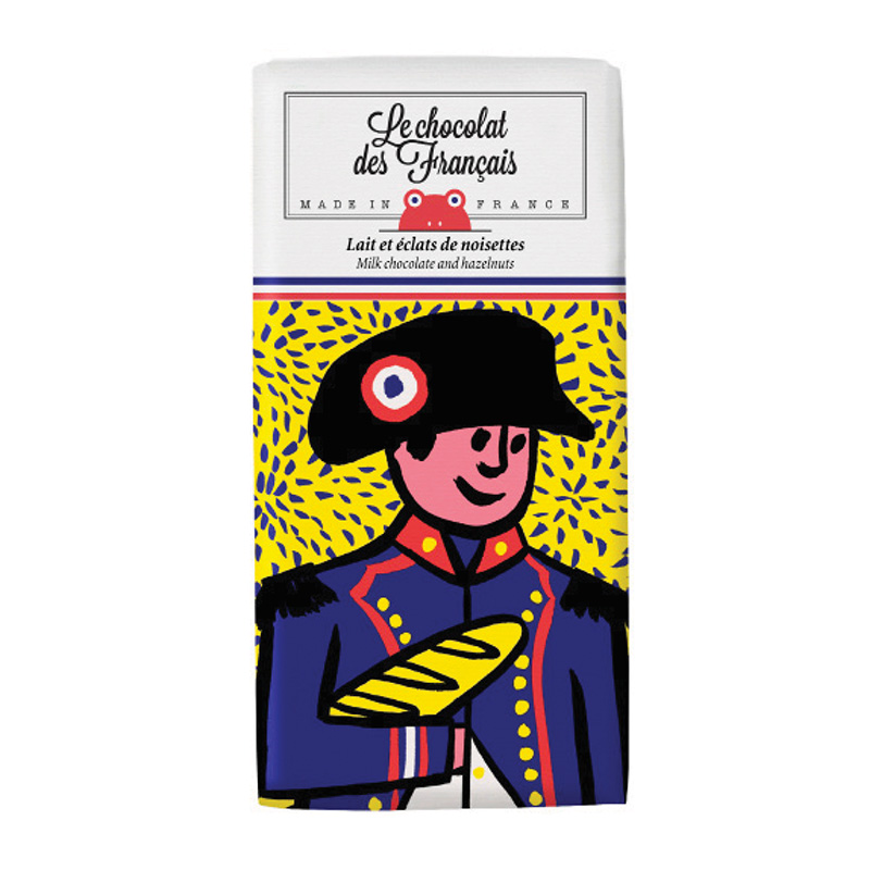 Le chocolat des Francais(ル・ショコラ・デ・フランセ)ナポレオン/ミルク・ヘーゼルナッツ(カカオ41%) 80g
