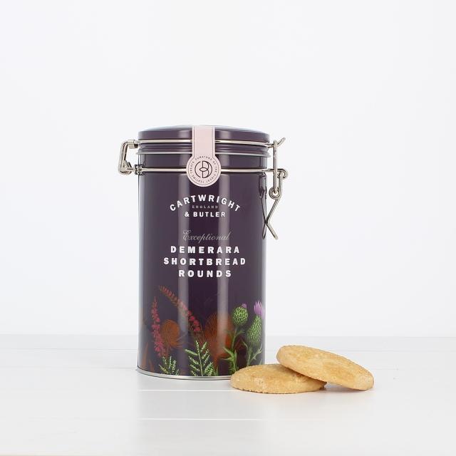 C&B デメララ(ざらめ)バターショートブレッド(缶)200g×6個セット