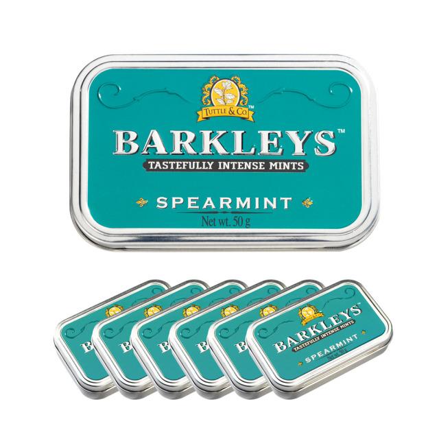 Barkleys クラシックミントタブレット(スペアミント味)50g×6個セット