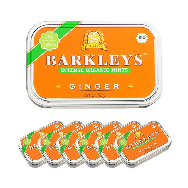 Barkleys オーガニックタブレット(ジンジャー味)50g×6個セット