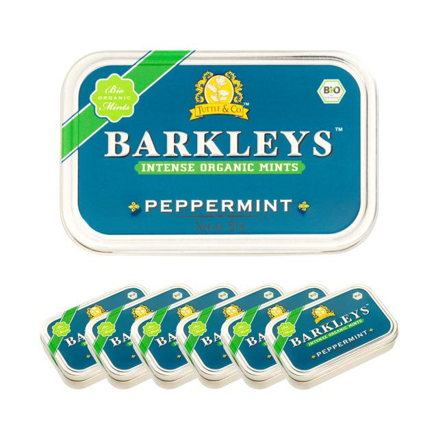 Barkleys オーガニックタブレット(ペパーミント味)50g×6個セット