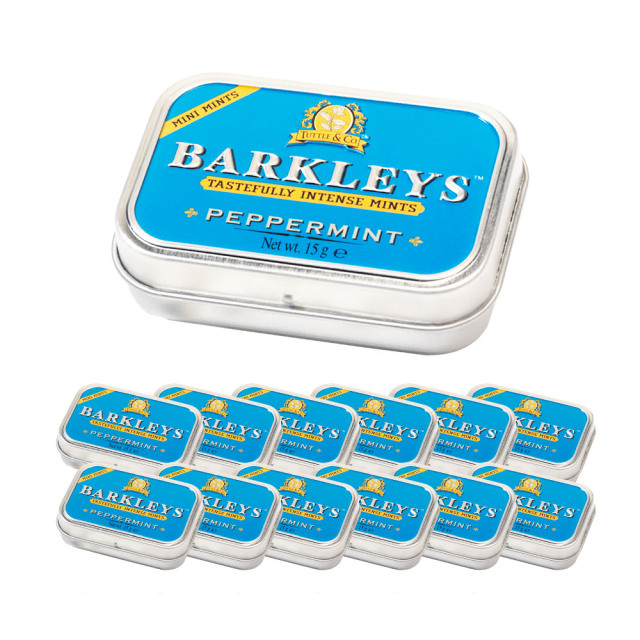 Barkleys シュガーフリーミントタブレット(ペパーミント味)15g×12個セット