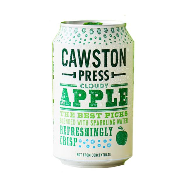 CAWSTON スパークリング クラウディアップル 60%りんご果汁入り飲料(炭酸ガス入り)330ml×24本セット