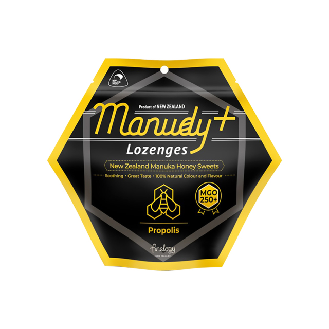 MANUDY+ プロポリス入り・マヌカハニー・キャンディ(天然はちみつ香料使用) 6粒 キャンディ