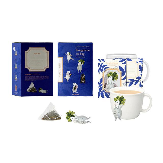 Gongdreen ウサギ(ルイボスティー) 紅茶(ティーバッグ) 南アフリカ共和国 ゴンドリーン お茶 ティー 飲み物