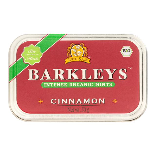 オーガニックミントタブレット(シナモン味) 50g 有機清涼菓子 ドイツ タブレット BARKLEYS バークレイズ