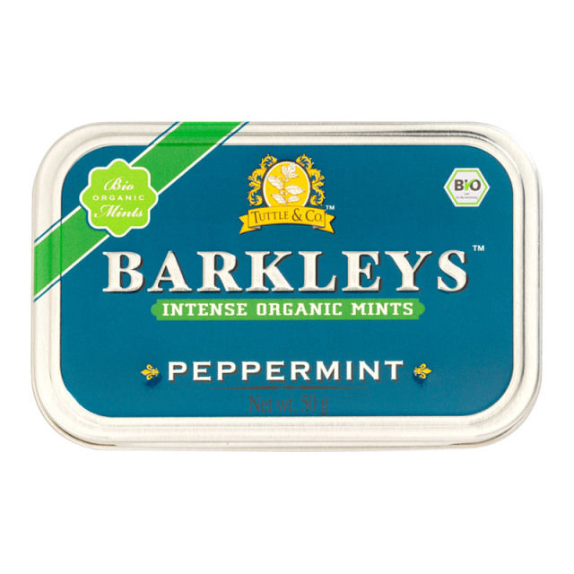 オーガニックミントタブレット(ペパーミント味) 50g 有機清涼菓子 ドイツ タブレット BARKLEYS バークレイズ