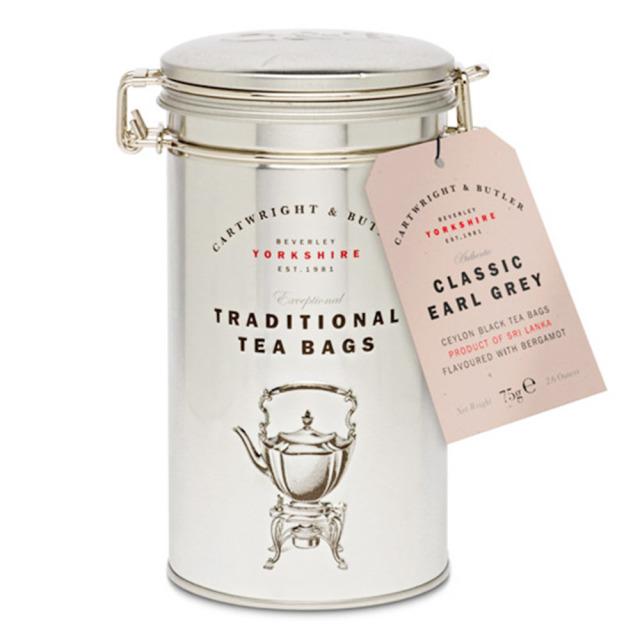 カートライト&バトラー【Cartwright & Butler】クラシックアールグレイティー 30TB(缶) 紅茶 ティーバッグ 輸入 お茶 イギリス