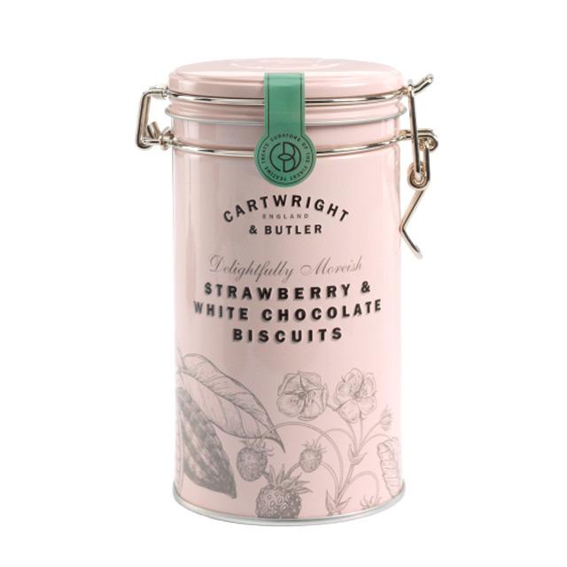 ストロベリー&ホワイトチョコ・ビスケット(缶) CARTWRIGHT&BUTLER≪カートライト&バトラー≫ 菓子 イギリス クッキー 焼き菓子